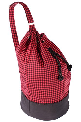 SugarShock Retro Gingham rockabilly Karo SEESACK Reisetasche Shopper Tasche Rockabilly Gingham