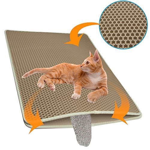 riijk Katzenstreu Matte für die Katzentoilette - der XXL Streufang Vorleger fürs Katzenklo, Katzenklomatte