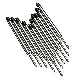 Kugelschreiberminen - TOOGOO(R)10 x Schwarz Kugelschreiber Tintennachfuellungen Mine Medium fuer Parker Stil