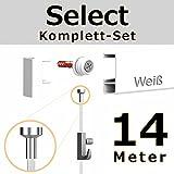 hang-it 14 Meter Bilderschienen - Select - Komplett Set in weiß