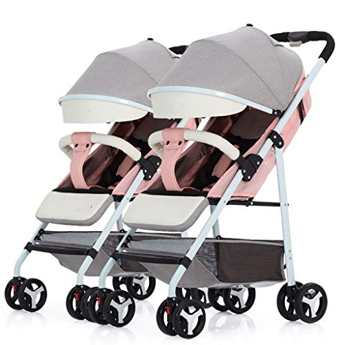 Passeggini leggeri passeggino doppio da viaggio passeggino pieghevole portatile ultraleggero staccabile con zanzariera cinturino da polso passeggino gemellare passeggini e carrozzine (color : b)