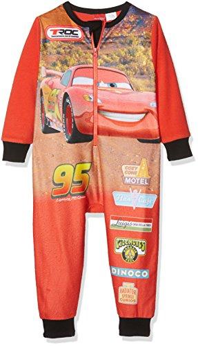 iliger Schlafanzug Lightning Mcqueen Cars Character, Rot, 7-8 Jahre (Fleece Pjs Für Kinder)