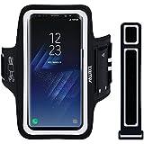 """EOTW Brassard Sport pour Samsung S8 Plus/ S6 Edge+/S9/S7 Edge, Brassard téléphone avec Espace pour Cartes, clés, Argent & écouteurs, Bon Maintien pour de Course, Jogging, Vélo, Pêche (6,2"""" Noir)"""
