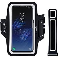 """EOTW Brassard Sport Compatible pour Samsung S8 Plus/S9, Huawei P30 Pro, iPhone XS Max, Brassard téléphone avec Espace pour Cartes, clés, écouteurs, Bon Maintien pour de Course, Jogging, Vélo 6,2"""""""