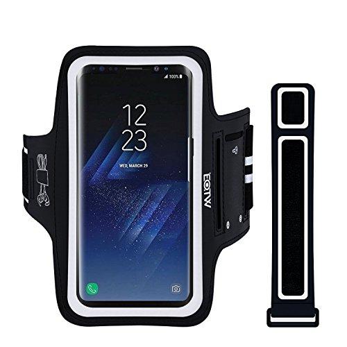 EOTW Sportarmband Handyhülle universell Kompatibel mit Samsung Galaxy S8 Plus/ S6 Edge+/S9/S7 Edge, Ideal für Laufen und Joggen (6,2 Zoll Schwarz)