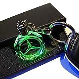 VILLSION 7 Colori Che cambiano Mercedes Benz Portachiavi Auto Portachiavi a LED Accessori Auto