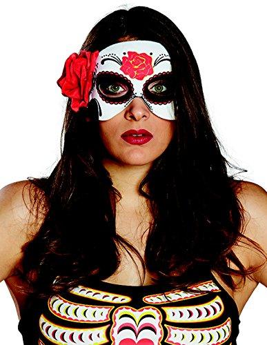 (La Rosa Catrina Halbmaske Maske Halloween Damen Damenkostüm Horror 6245998 Day of the Dead Rose)
