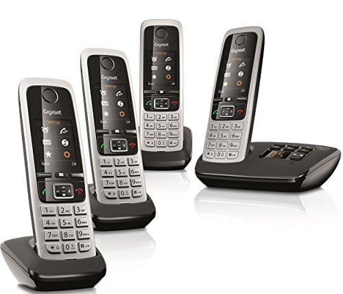 gigaset-c430a-quad-cordless-phone-with-answering-machine-and-anonymous-call-silencing-pack-of-4
