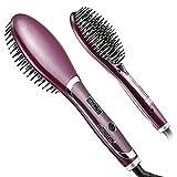 Magicfly Brosse Lissante Chauffante Brosse à Lisser Peigne à Lisseur Electrique d'Ions Négatifs Anti-Statique pour Défriser les Cheveux Température Anti-Brûlure