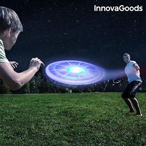 InnovaGoods ig812553Frisbee mit LED, Unisex Erwachsene, Mehrfarbig, Einheitsgröße