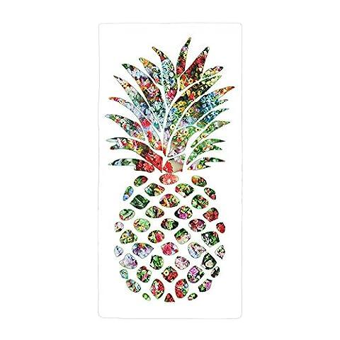 Warrantyll Fruits d'été de bohème Ananas Slice épais absorbant doux en microfibre Serviette de plage de bain 70*150cm # 6