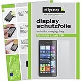 dipos I 6X Schutzfolie matt passend für Nokia Lumia 730/735 Folie Displayschutzfolie