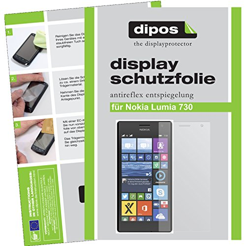 dipos I 6X Schutzfolie matt passend für Nokia Lumia 730/735 Folie Bildschirmschutzfolie