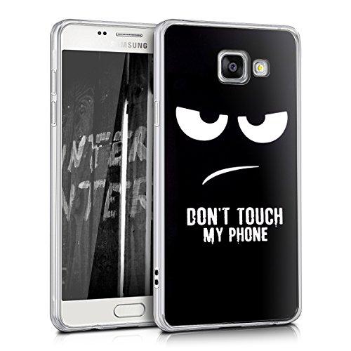 kwmobile Samsung Galaxy A5 (2016) Cover - Back Case per Samsung Galaxy A5 (2016) Custodia in Silicone TPU Trasparente Bianco/Nero