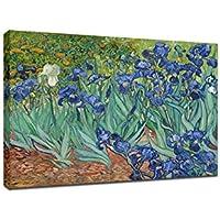 Wieco Art–Irises moderno allungato e incorniciato floreale stampa Giclee su tela di Van Gogh famoso fiori dipinti a olio riproduzione Artwork immagini su tela da parete per camera da letto casa decorazioni VAN0009–3040
