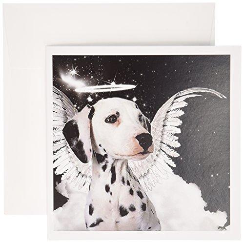 3drose Dalmatiner Angel Hund mit Wolken, einem süßen -