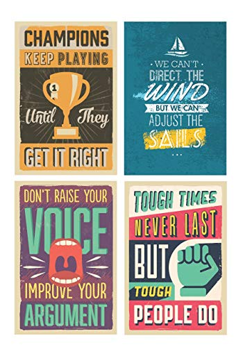 SJC202 Tough Times Never Last Poster Wall Print 18 X 12 Inches Inspirational Motivational Gym Classroom Home Office Dorm