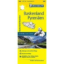 Michelin Baskenland - Pyrenäen: Straßen- und Tourismuskarte 1:150.000 (MICHELIN Localkarten)