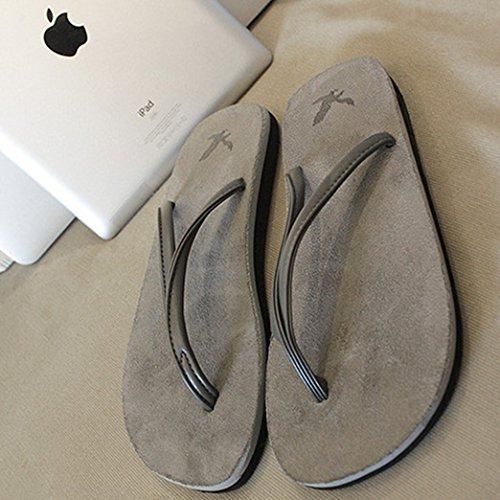 Cwjdtxd pantofole estive fang shao coppia estate infradito leggero retro classico antiscivolo tendenza sandali da spiaggia e pantofole, 36, grigio