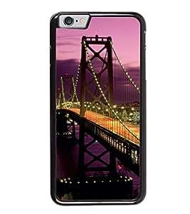 Fuson Designer Back Case Cover for Apple iPhone 6 Plus :: Apple iPhone 6+ (lighting road way river sea dam night)