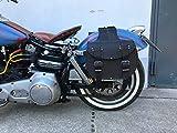 INDIAN Satteltaschen Chopper Biker Motorrad Seitenkoffer Qualität ORLETANOS Ledertaschen Biker Bikertaschen Seitentaschen Tasche Harley Davidson HD Motorrad schwarz Echtleder Fatboy Heritage Intruder Dragstar Wildstar BMW Honda yamaha Suzuki