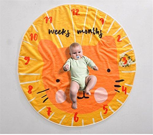 eilenstein Decke - Neugeborene Fotografie - Runde Teppich + Garland - Neugeborenen Geschenk,A ()