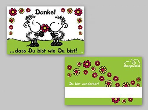 Sheepworld - 57171 - Pocketcard, Danke! ...dass Du bist wie Du bist!, PVC (Danke-karten Band)