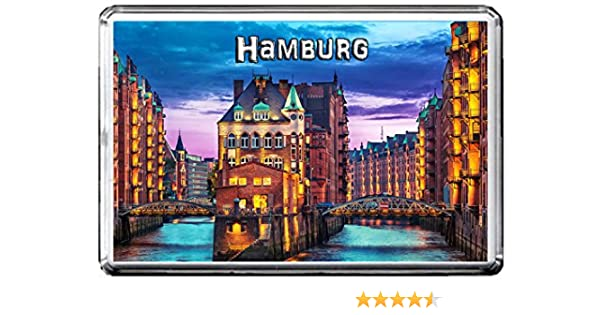 L/übeck City flag fridge magnet Calamita da frigo Germany
