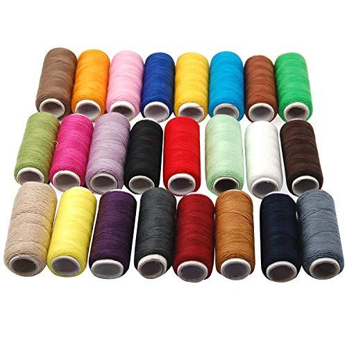 trixes 24 Fils de Couture en Coton de Couleurs Assorties