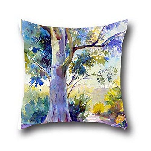 Goling Bbay arte árbol de manta funda de almohada de algodón de pintura al óleo