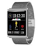 LBAFS Fitness Tracker, Bluetooth Wasserdicht Smart Armband mit Pulsmesser Sport Schrittzähler Kompatibel mit IOS Android, Beste Geschenk,D