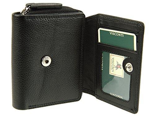 Visconti Heritage Compact Multi Fach Leder Tasche–HT30 schwarz