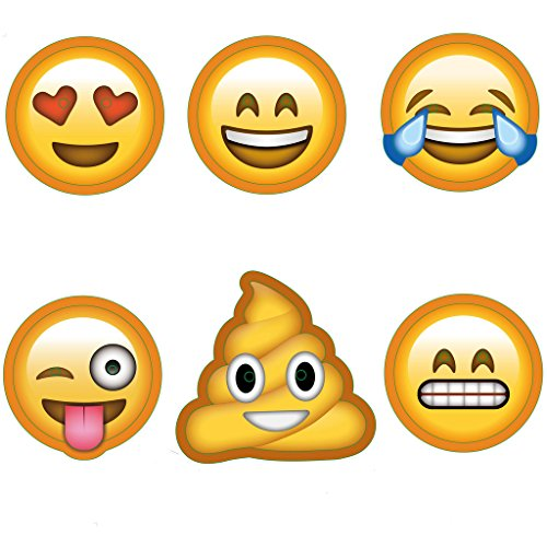 Kimilar 6pcs emoji maschere per le parti, divertente photo booth puntelli dress-up accessori (riutilizzabili, not di cartone)