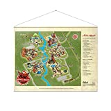 Fallout Wallscroll Nuka World Map