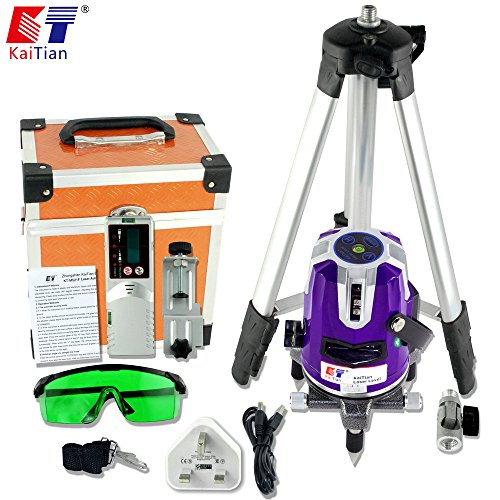 kaitian-cross-lines-laser-level-self-leveling-rotary-lasers-with-tripod-and-receiver-detector-combo-