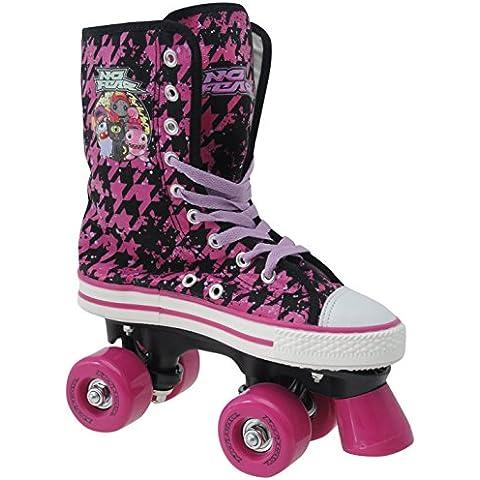 No Fear Kids lienzo Quad Niñas Niños Patinaje calzado, morado