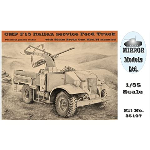 Mirror Models 1:35 - CMP F15 Italian Service Ford Truck w/ 20mm Breda Gun - MRR35107