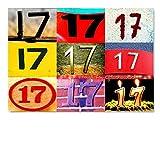 DigitalOase Glückwunschkarte 17. Geburtstag Jubiläumskarte 17. Jubiläum A5 Geburtstagskarte Grußkarte Klappkarte Umschlag #LETTERS
