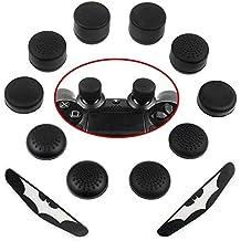 Zacro Tappi di Copertura Antiscivolo per Tasti Pollice di PS4 Dualshock, Thumb Stick cap Cappucci Playstation 4 Controller con 2 Decalcomania Etichette per Le Luci