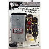 Tech Deck - 25750 - 96 mm Fingerboard - Starter Set / Set de Principiante - 'World Industries' - con 2 Fingerboards, Caso, Herramienta y Conectores