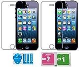 2x »Apple iPhone SE / 5 / 5s / 5c« Panzerglas Displayschutzfolie | Blasenfrei | Ultra-HD | Bruchsicher | Rytek Panzerglasfolie ►lebenslange Garantie