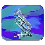 Euphonium–Musikinstrument Musik Messing Band Mauspad Mauspad