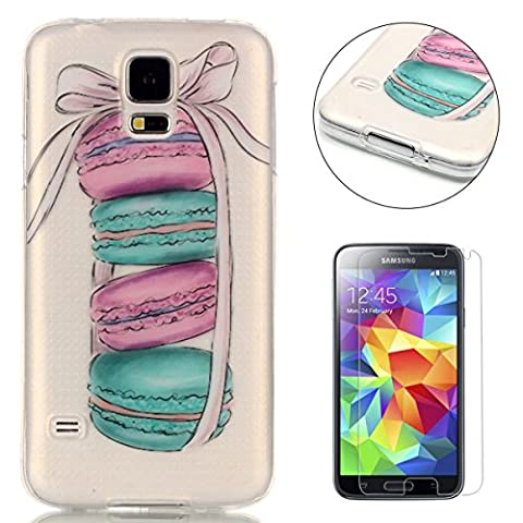 CaseHome Coque de protection en gel silicone TPU souple, solide, anti-chocs et anti-rayures pour iPhone SE/5S/5 Joli motif coloré Protecteur d'écran inclus