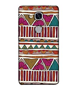 PrintVisa Designer Back Case Cover for Huawei Honor 5c :: Huawei Honor 7 Lite :: Huawei Honor 5c GT3 (Jaipur Rajasthan Tribal Azitec Mobiles Indian Traditional Wooden)