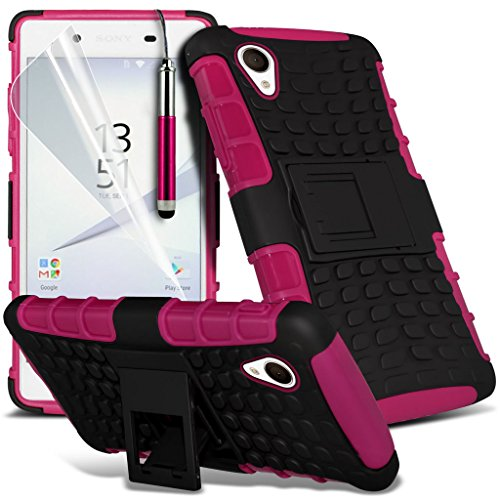 (Clear) Étui pour Apple iPhone 6s Haute Qualité Case Clear Gel Housse de peau Durable Survivor TPU par i-Tronixs Shock proof + Pen (Hot Pink)
