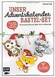 Unser Adventskalender Bastel-Set - Für die ganze Familie: Mit Papierbogen und Anleitungen: 24 Geschenktierchen aus Papier falten und dekorieren