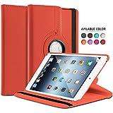 TheBlingZ® Housse Coque Etui Rotative 360° degrés PU Smart Case pour Apple iPad 2 3 4 -- Rouge