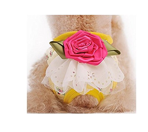 Weibliche Kostüm Niedliche Hunde - DinRoll Hundeunterwäsche, Waschbar, Größe XL, Gelb