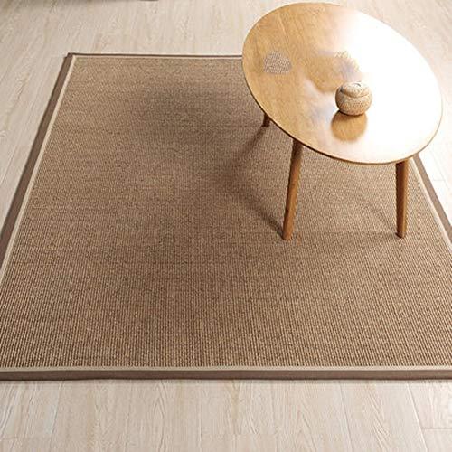 GHGMM Einfach Sisal-Material Braun Teppich, Wohnzimmer Schlafzimmer Couchtisch Matte Schallschutz...