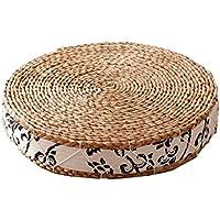 JianMeiHome Kissen Stuhlkissen Sitzkissen Tatami Mat Handgefertigtes Stroh Verdickt Futon Kissen Startseite Tatami Yoga Matte preisvergleich bei kinderzimmerdekopreise.eu